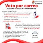 Si piensas que no podrás ir a votar el  4M, puedes hacerlo por correo hasta el 24 de abril