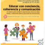 Talleres Gratuitos online para familias con hijos entre 10 y 16 años