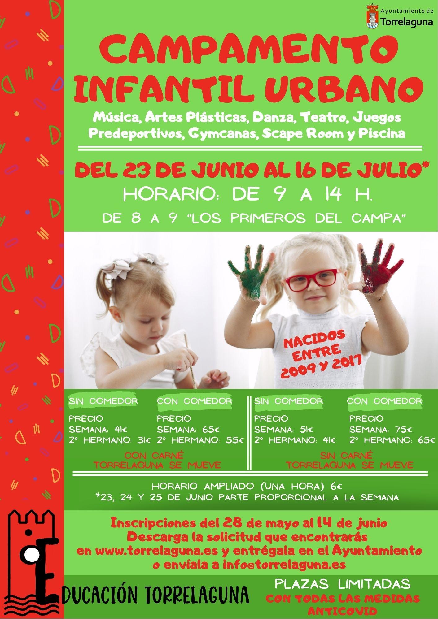 Campamento infantil urbano en Torrelaguna