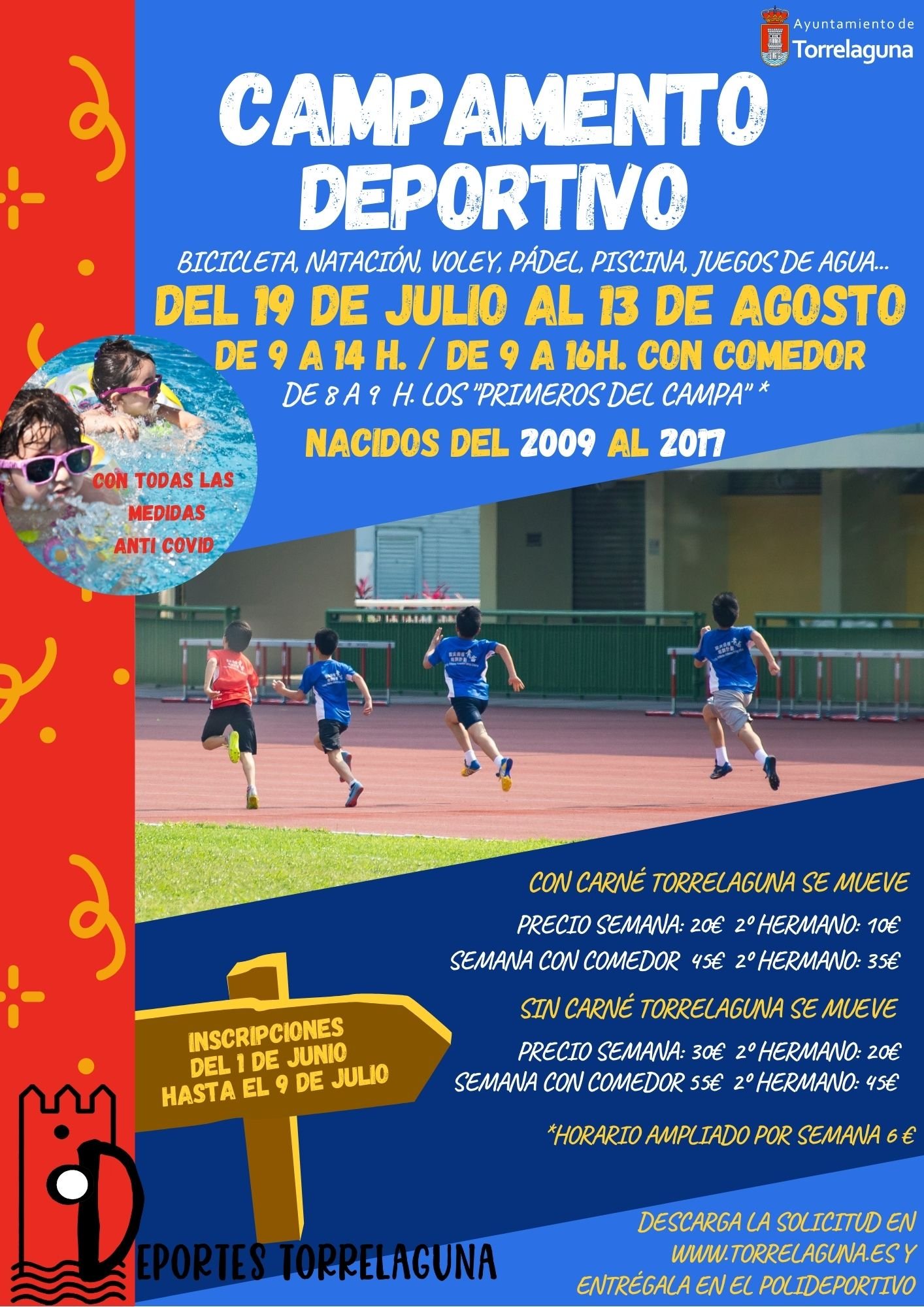 Campamento deportivo en Torrelaguna