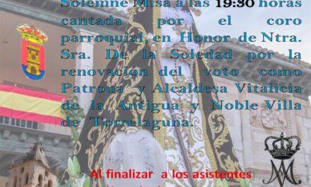 Misa en la ermita de Nuestra Señora de la Soledad