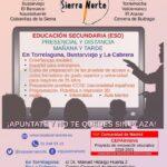 Ya puedes matricularte en la Escuela de Adultos de Torrelaguna