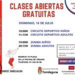 ¡ Clases gratuitas en el Polideportivo Antonio Martín !