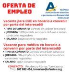 Oferta de empleo en AFANIAS Torrelaguna