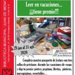 Campaña de animación a la lectura: leer en vacaciones ¡tiene premio!