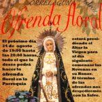 Ofrenda floral – Martes, 24 de agosto