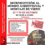 Taller gratuito de introducción al mundo audiovisual y montaje de video en el Aula Joven de Torrelaguna