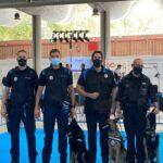 La Unidad Canina de la Policía Local de Torrelaguna en exhibición